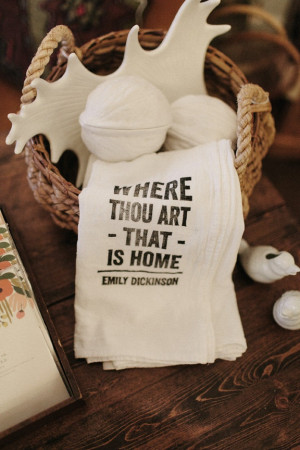 Flour Sack Tea Towels - Home Quotes (set of 2). $18.00, via Etsy.