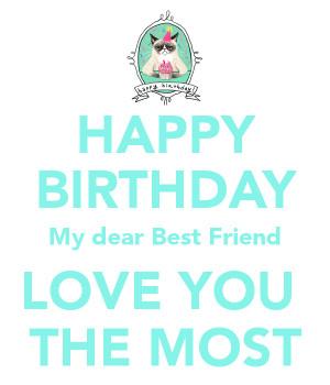 Happy Birthday I Love You Best Friend