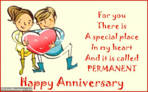 Cute anniversary card wishes to girl from guy