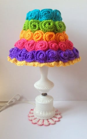 Crochet lampshade made by (un)Deniably Domestic; see other crochet ...
