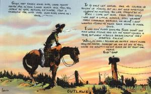 Cowboy on his Horse - Poem Cowboy Western