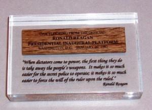 Details about Ronald Reagan Memorabilia - New Quote #15 Gun Control