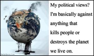 My political views?