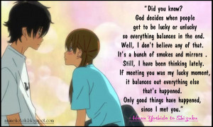 Tonari No Kaibutsukun Top 10 Quotes. Wishing Someone Good Luck Quotes ...