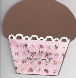 Cupcake Birthday Card Sayings