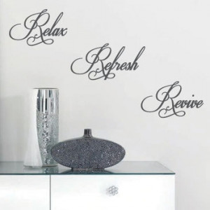Relax Refresh Revive Wall Quote Art Stickers Wall Decals(China ...