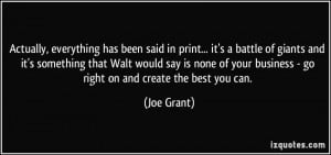 ... none of your business - go right on and create the best you can. - Joe