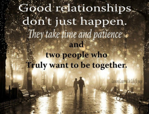 relationships need time and patience