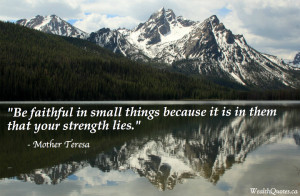 Mother Teresa Quotes – Faith and strength | Image