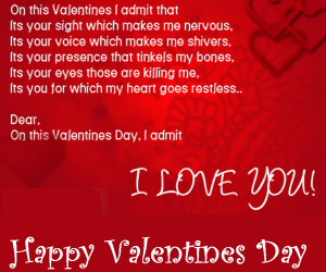 Happy-valentine-day-2013 romantic picture with Quotes I LOVE YOU