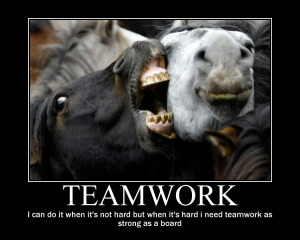 Funny Teamwork Motivational Quotes Funny teamwork.