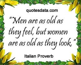 Picture Italian Popular proverbs >>More....