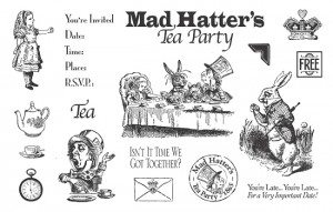 ... Mounted Rubber Stamp Collection by TweetyJill - Mad Hatter's Tea Party