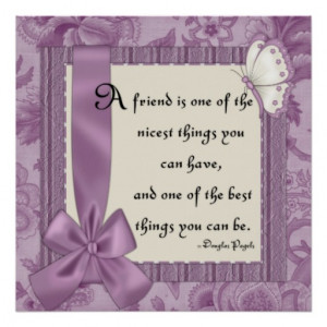 Friendship Quote :: Beautiful Elegant Purple Print