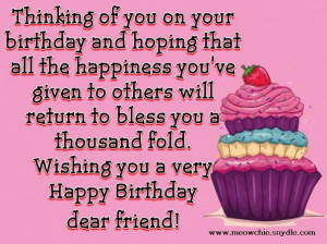 ... › Happy Birthday Wishes, Quotes, Sayings and Messages for a Friend