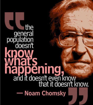 Noam Chomsky. He describes his views as