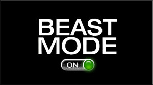 Beast Mode On - Funny Twitter Background