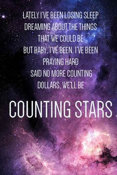 Lyric art- Counting Stars by OneRepublic More