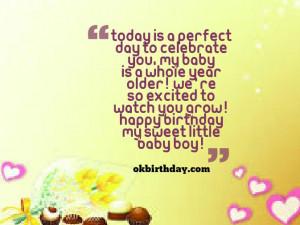 Happy Birthday Baby Boy Quotes Happy birthday my sweet little