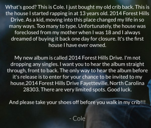 ... Cole's House And Listen To His New Album '2014 Forest Hills