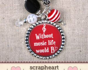... Flat, Teacher Appreciation, Quote Keychain, Music Quote Jewelry, Choir