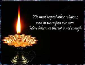 respecting others religions Christianity and other religions documents christianity's relationship with other world religions and in this respect not to be compared with the qur'án.
