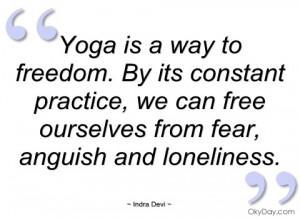 yoga is a way to freedom indra devi