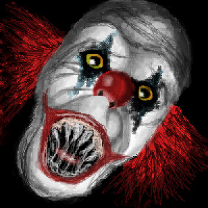 Scary Evil Clown Drawings Pic
