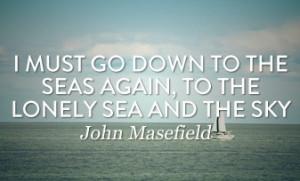 John Masefield Sea Fever Quote