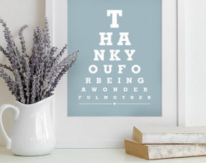 ... quote art typography poster - Thank You For Being Wonderful Mother