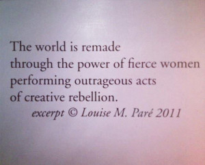 The World Is Remade Through The Power Of Fierce Women Performing ...