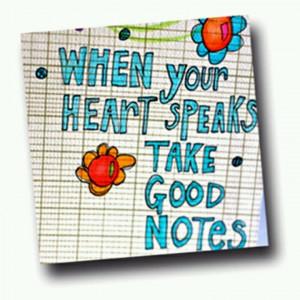 Take notes :)