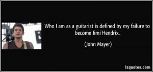 Who I am as a guitarist is defined by my failure to become Jimi ...