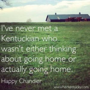 love my Old Kentucky Home.