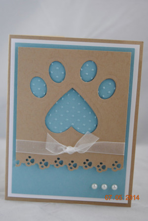 Handcrafted Pet Paw Print Thinking of You, Sympathy, Congratulations ...