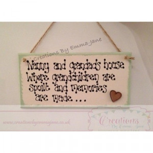 Nanny and Grandads House..Personalised Wooden Plaque