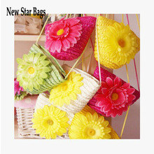 2014 Straw bags obliquely across the mini mobile phone key change ...