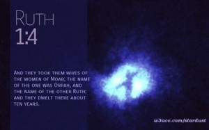 Bible Quote Ruth 1:4 Inspirational Hubble Space Telescope Image