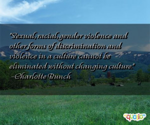 Sexual , racial , gender violence and other forms of discrimination ...