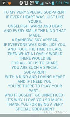 Godparent quote.. on ur new godchild