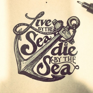 anchor, draw, hope, love, quote