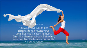 ... heaven on earth. William W. PurkeyMore Inspirational Quotes … [Read