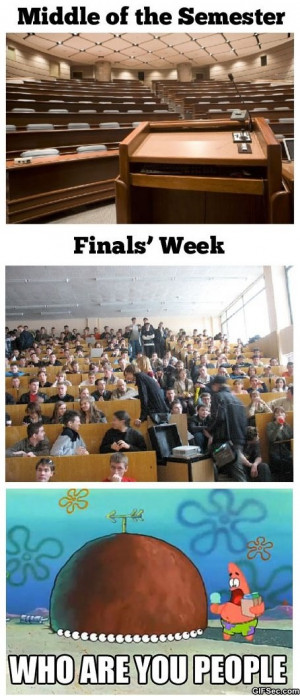 Funny – College during finals