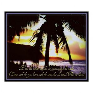 Hawaiian Quote Poster
