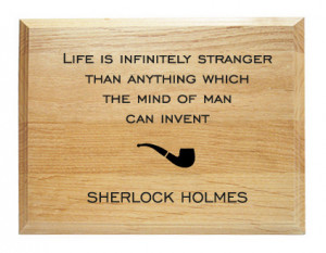 Sherlock Holmes Quote Wood Plaque
