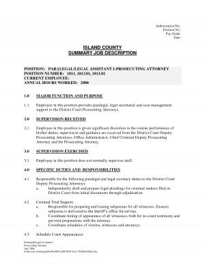 Blank Job Description Template