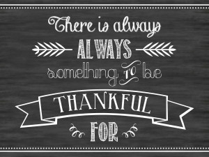Always Be Thankful ~ Free Printable