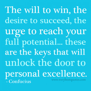 Personal excellence motivational quote