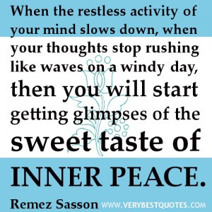 Sweet iNNER peace quotes
