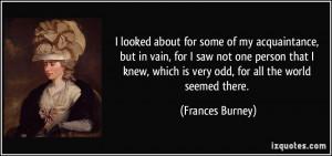 More Frances Burney Quotes